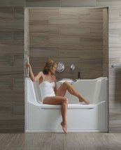 Kohler rising wall bathtub for ease of entry and exit