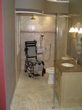 Small accessible handicap bathroom in akron ohio