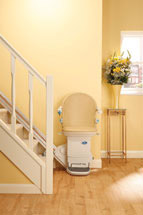 Stair Lift to move a handicapped person from floor to floor in a home