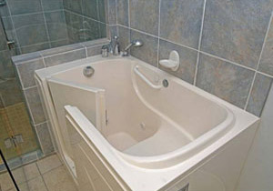Accessible walk-in tub for safety in cleveland