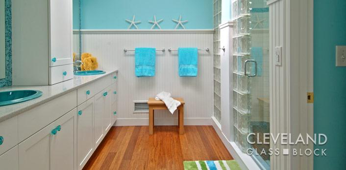 Glass block windows shower wall bar cleveland akron ohio - Bathroom showroom cleveland ohio ...