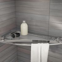 Large Metal Shelf Towel Holder