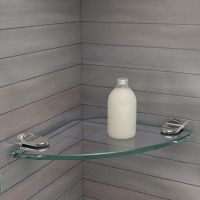 Small Glass Corner Shelf