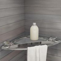 Small Metal Shelf Towel Holder