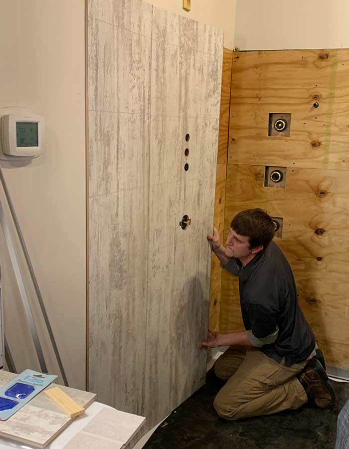 Bathroom laminate wall panels are easy to install
