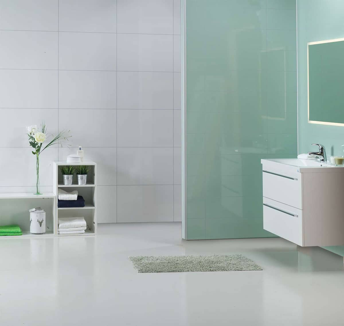 Laminated Bathroom Wall Panels, Shower Pans & Accessories ...