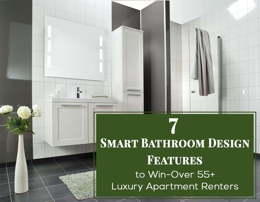 Smart bathroom design features to win over luxury apartment | Innovate Building Solutions | Multi Unit | Luxury Apartments | #LuxuryApartments #BathroomDesigns #BathroomRemodeling