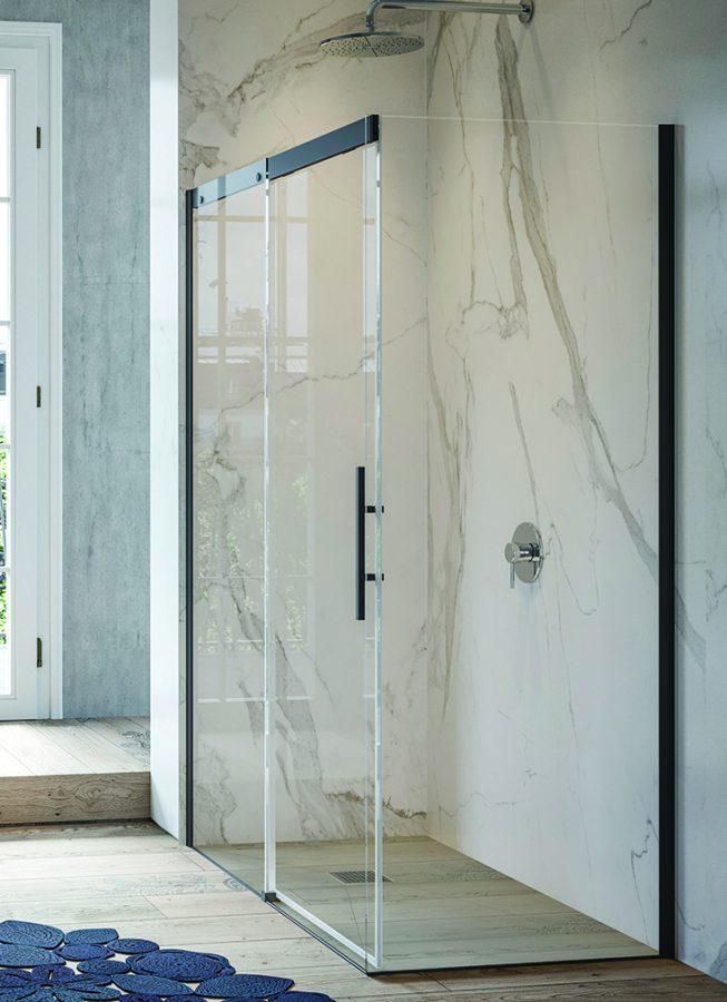 One level wet room 55 plus apartment | Innovate Building Solutions | Multi Unit | Luxury Apartments  | #RollInShower #OneLevelShower #WalkInShower