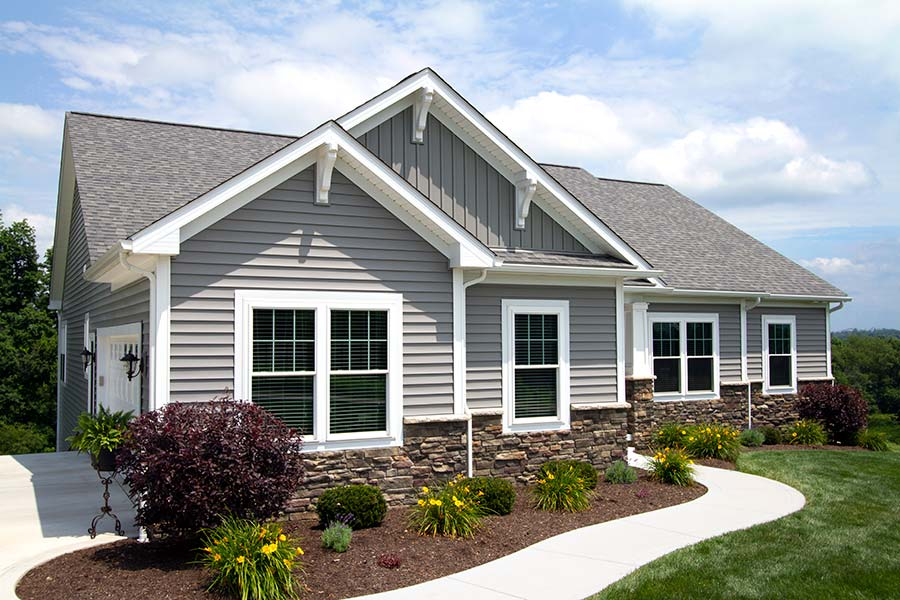 Double hung windows in a new home in Hinckley Ohio by Cleveland Window and Door