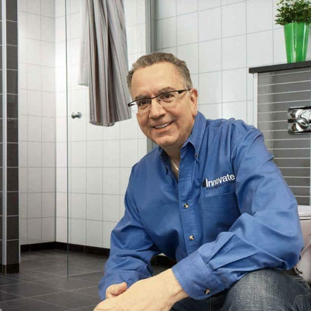 Mike Foti CEO of Innovate Building Solutions and the Columbus Glass Block division who designs fabricates and installs glass block windows and walls