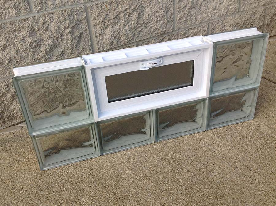 prefabricated basement glass block window